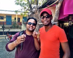 Pranil (CEO of LFW) and I enjoying sweet chai tea
