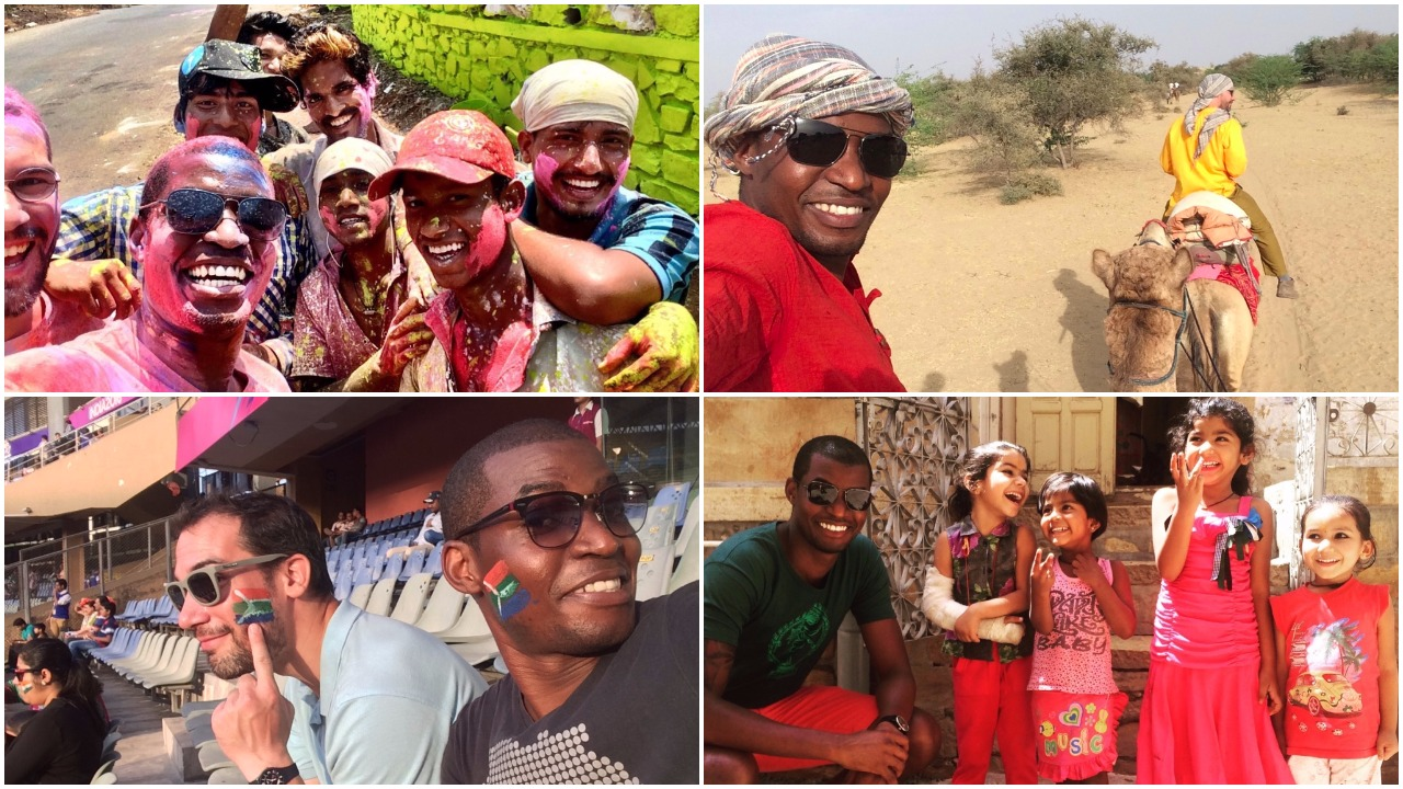 Happy Snaps: clockwise from top-left: Holi Festival, Camel Riding, T20 Cricket World Cup and Happy Children