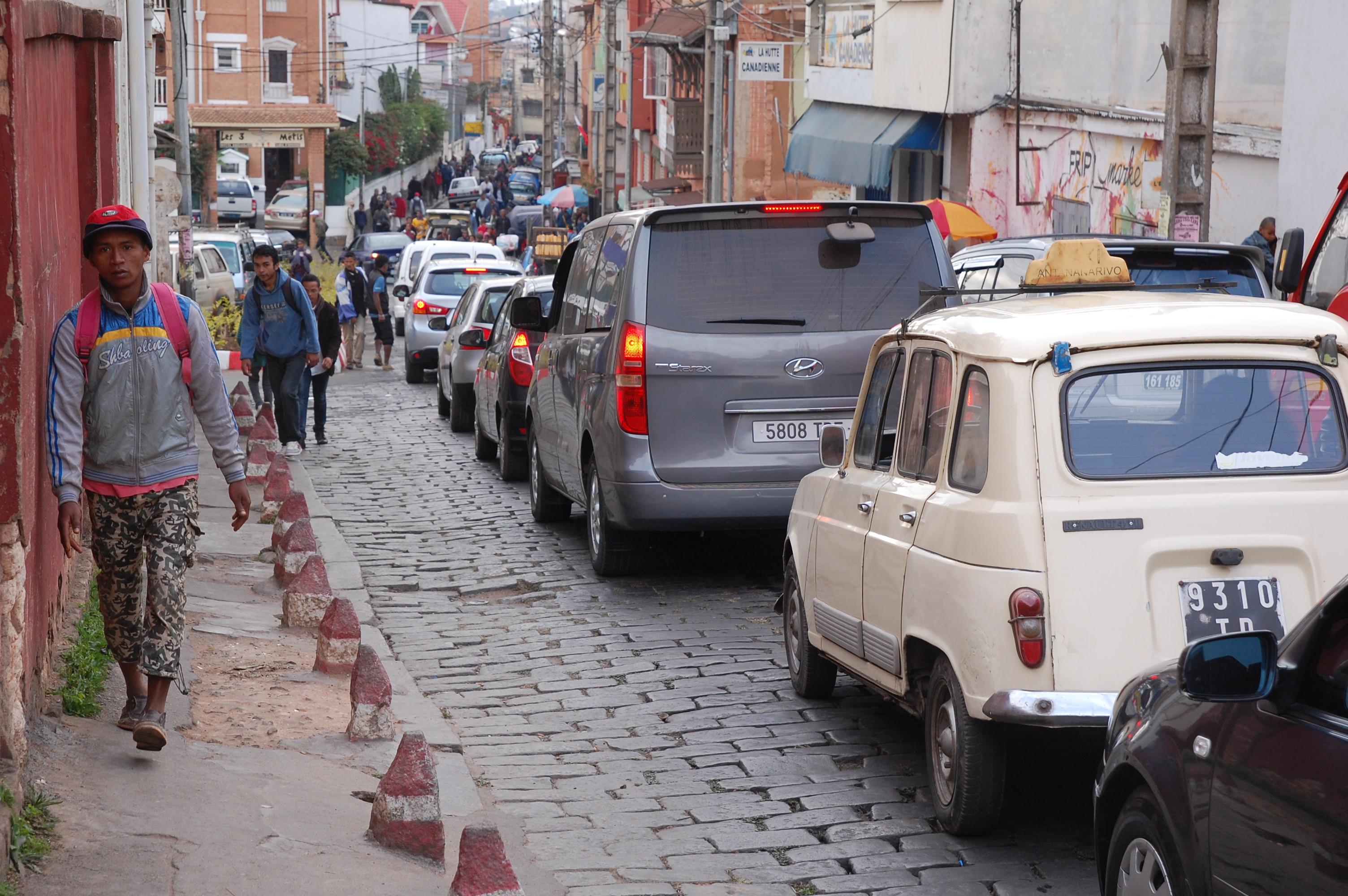 Tana cobbled street