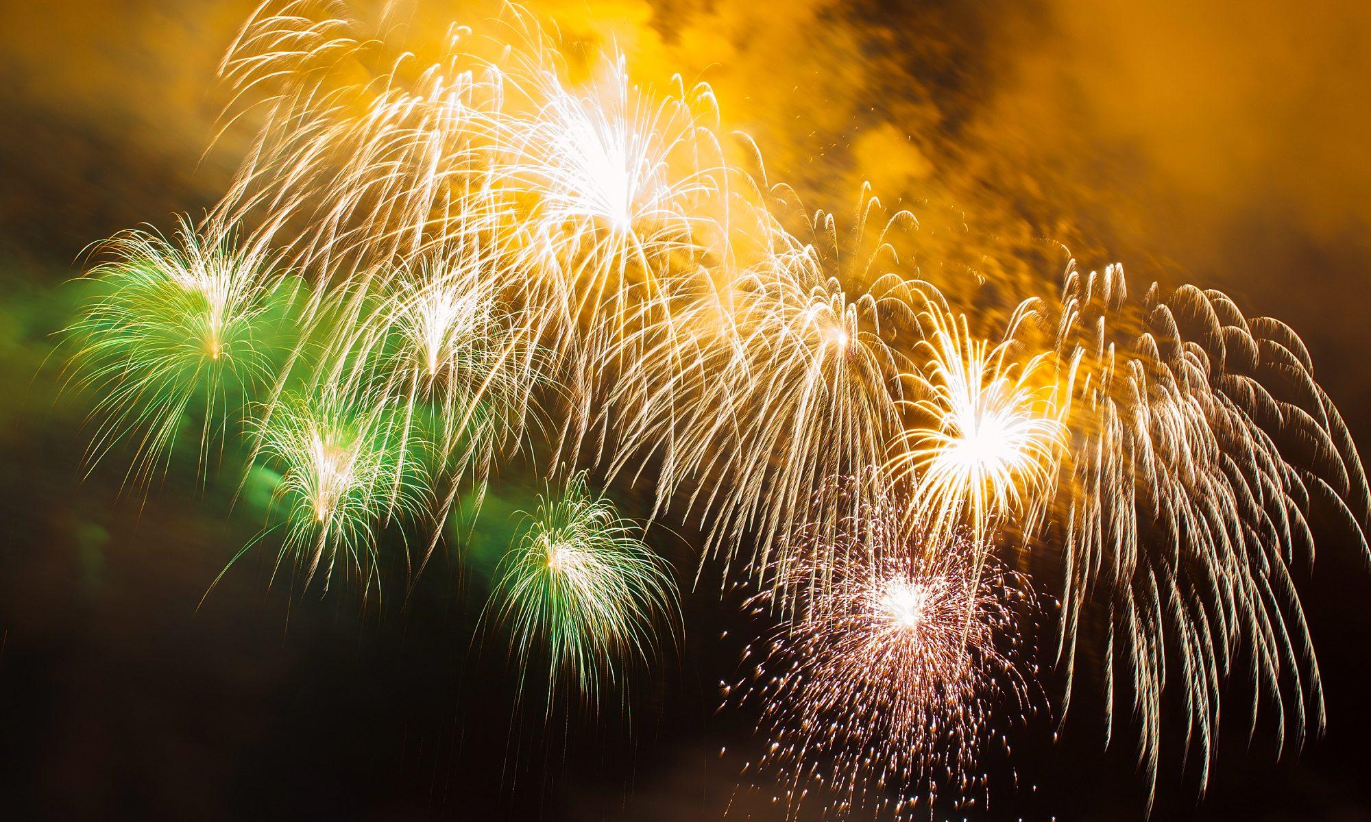 Beautiful fireworks, Crimea