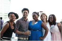 With BBA students and CEO of TSiBA at a cocktail evening hosted by Bowman Gilfillan